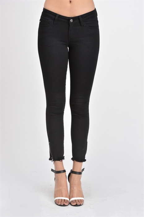 Picture of Premium Ankle Zip Black Jeans