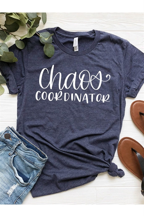 Picture of Chaos Coordinator (NEW) Graphic Tee, Heather Navy