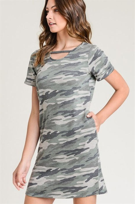 Picture of Camo Keyhole Dress