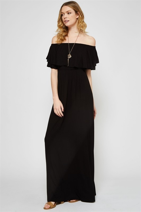 Picture of Curvy Off The Shoulder Ruffle Maxi