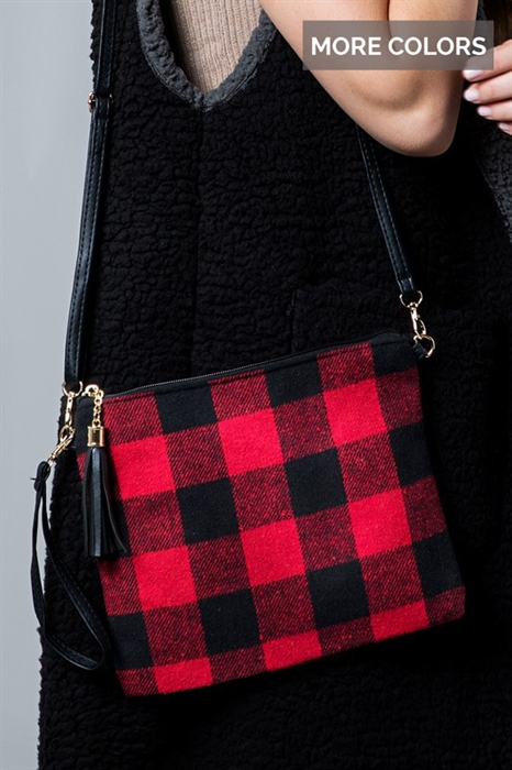 Picture of Buffalo Plaid Wristlet
